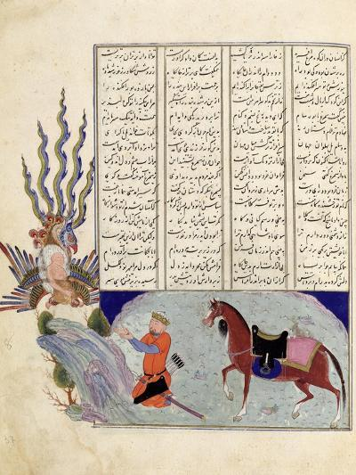 Simurgh Offers Zal, the Father of Roustem, to Sam, the Grandfather of Roustem, from the 'shahnama--Giclee Print