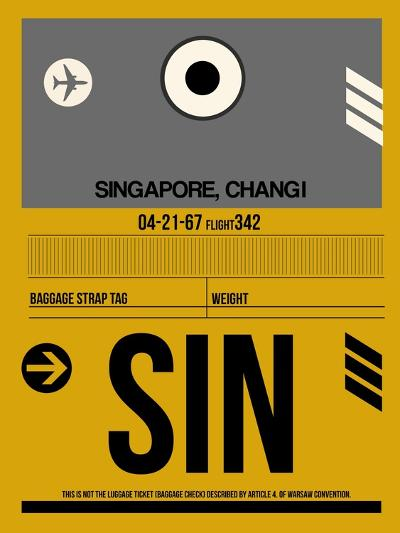 SIN Singapore Luggage Tag I-NaxArt-Art Print