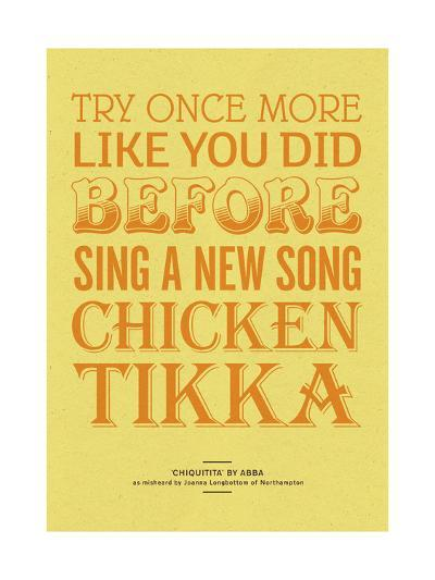 Sing a New Song Chicken Tikka-Peter Reynolds-Giclee Print