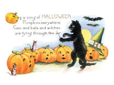 Sing a Song of Halloween--Art Print