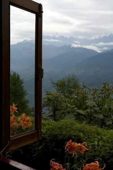 Singalila Ridge And Sikkim Landscape Seen From A Window-Steve Winter-Photographic Print