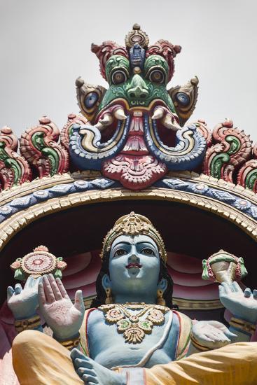 Singapore, Chinatown, Sri Mariamman Hindu Temple, Hindu Deity Detail-Walter Bibikow-Photographic Print