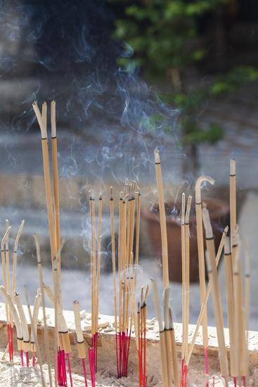 Singapore, Chinatown, Thian Hock Keng Temple, Joss Sticks-Walter Bibikow-Photographic Print