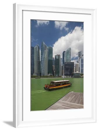 Singapore, City Skyline by the Marina Reservoir-Walter Bibikow-Framed Photographic Print