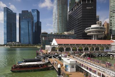 Singapore, City Skyline by the Marina Reservoir-Walter Bibikow-Photographic Print