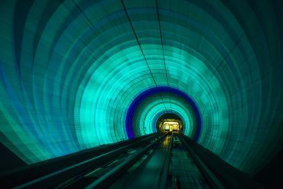 Singapore. Colorful Railroad Tunnel under a River-Jaynes Gallery-Photographic Print
