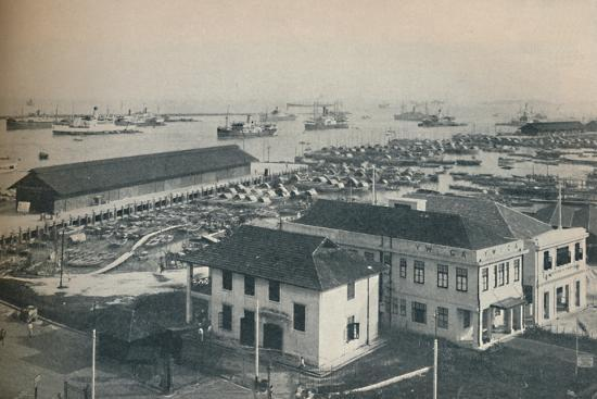 'Singapore Harbour is always crowded with shipping of many type and nationalities', 1937-Unknown-Photographic Print