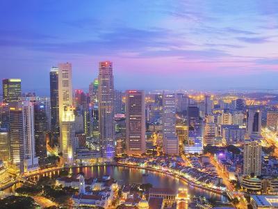 Singapore Skyline at Dusk-Paul Hardy-Photographic Print