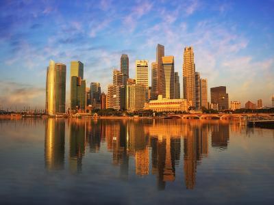 Singapore Skyline at Sunset-Paul Hardy-Photographic Print