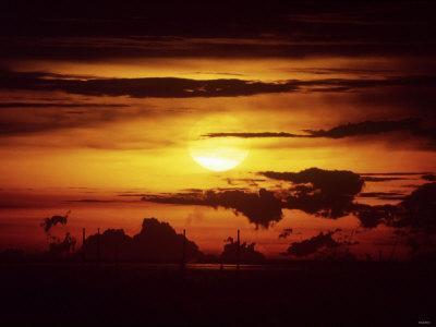 Singapore Sunset--Photographic Print