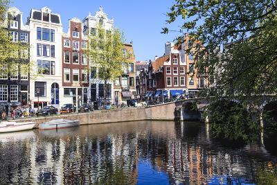 Singel Canal, Amsterdam, Netherlands, Europe-Amanda Hall-Photographic Print