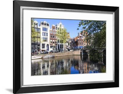 Singel Canal, Amsterdam, Netherlands, Europe-Amanda Hall-Framed Photographic Print