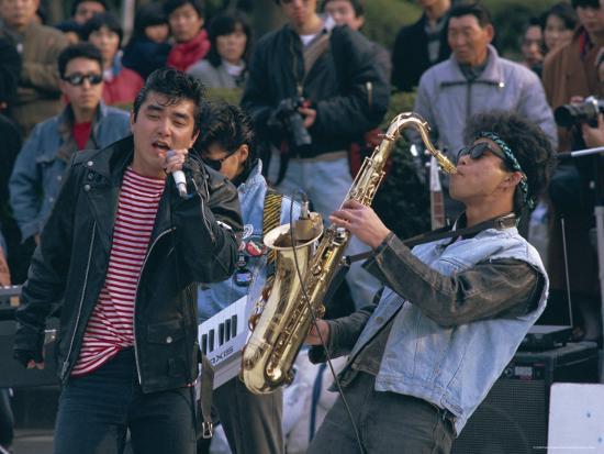 Singer and Musician, Horajuku, Tokyo, Japan, Asia-Rob Mcleod-Photographic Print