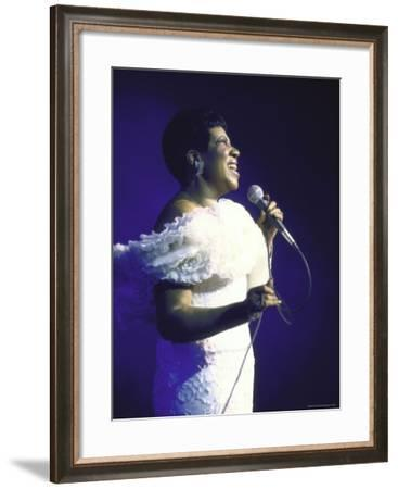 Singer Aretha Franklin Performing-David Mcgough-Framed Premium Photographic Print
