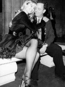 Singer Billy Joel and Wife, Model Christie Brinkley Cuddling