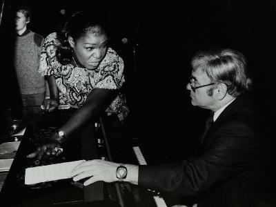 Singer Carrie Smith with Her Pianist Lou Stein, Forum Theatre, Hatfield, Hertfordshire, 1978-Denis Williams-Photographic Print