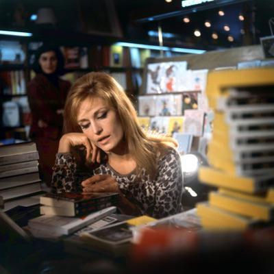 Singer Dalida in a Bookshop, C. 1968