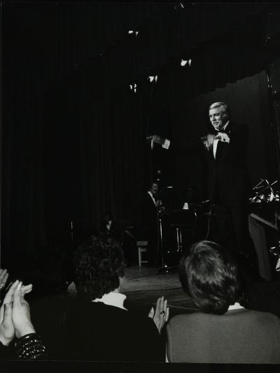 Singer Howard Keel on Stage at the Forum Theatre, Hatfield, Hertfordshire, 14 May 1983-Denis Williams-Photographic Print