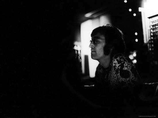 Singer John Lennon Working On His Album Mind Games At The Record Plant Premium Photographic Print David Mcgough Art Com