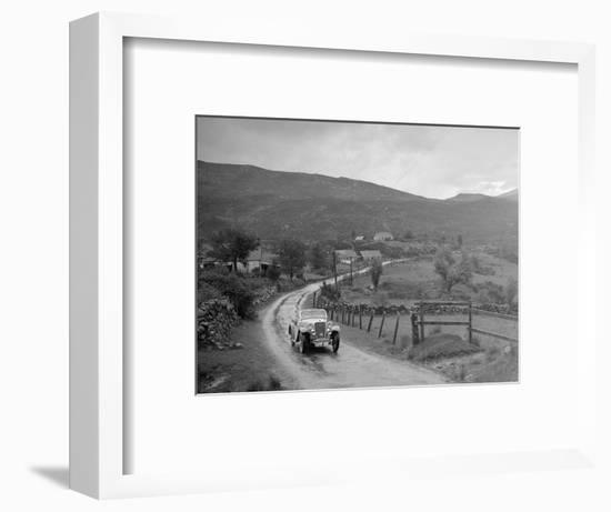 Singer Nine Sports of Miss MC Sherer competing in the RSAC Scottish Rally, 1936-Bill Brunell-Framed Photographic Print