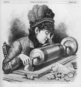 Singer Recording on Edison's Phonograph at New York