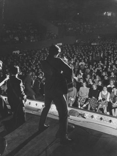 Singer Ricky Nelson and Band During a Performance-Ralph Crane-Premium Photographic Print
