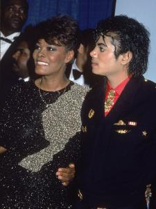 Singers Dionne Warwick and Michael Jackson at the Grammy Awards