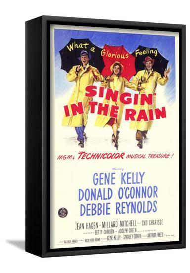 Singin' In The Rain--Framed Canvas Print