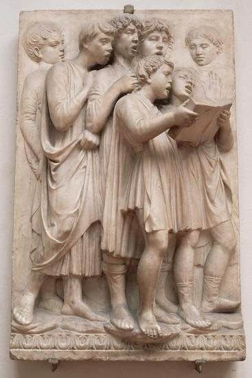 Singing Angels, Detail from the Cantoria, C.1432-38-Luca Della Robbia-Giclee Print