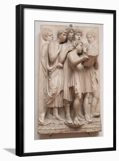 Singing Angels, Detail from the Cantoria, C.1432-38-Luca Della Robbia-Framed Giclee Print
