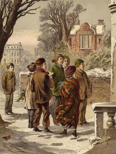 Singing Carols--Giclee Print