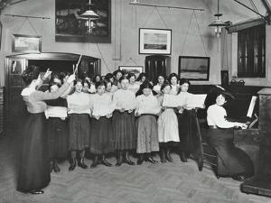Singing Class, Laxon Street Evening Institute for Women, London, 1914