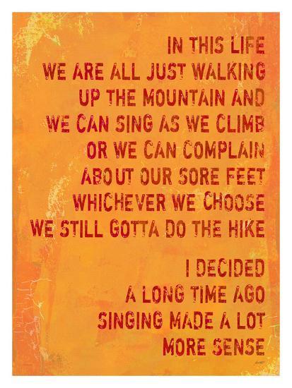 Singing Made A Lot More Sense-Lisa Weedn-Giclee Print