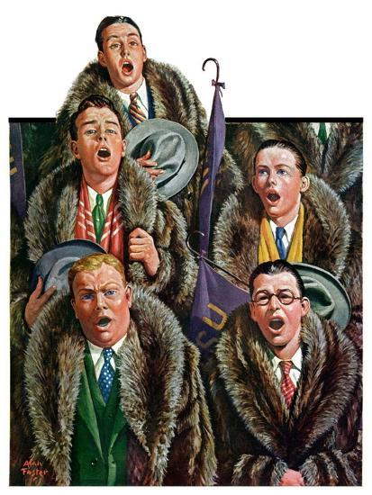 """Singing Men in Raccoon Coats,""November 16, 1929-Alan Foster-Giclee Print"