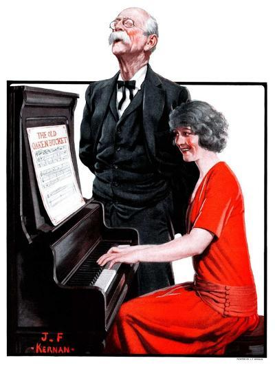 """""""Singing the Old Oaken Bucket,""""February 17, 1923-J^F^ Kernan-Giclee Print"""
