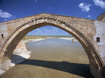Single Arch of the Malabadi Bridge across the Batman River, Kurdistan Area of Anatolia, Turkey-Woolfitt Adam-Photographic Print