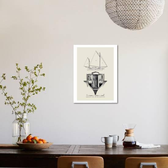 Single-Hand Yawl Rig and Construction Art Print by Charles P  Kunhardt |  Art com