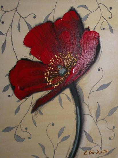 Single Red Poppy-Cherie Roe Dirksen-Giclee Print