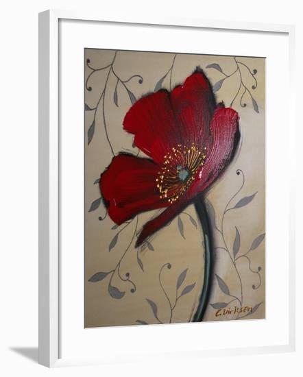 Single Red Poppy-Cherie Roe Dirksen-Framed Giclee Print