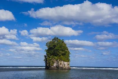Single Rock at Coconut Point in Tutuila Island, American Samoa, South Pacific-Michael Runkel-Photographic Print