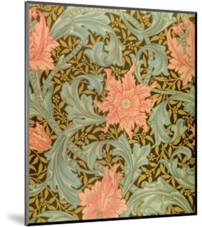 """Single Stem"" Wallpaper Design-William Morris-Mounted Print"