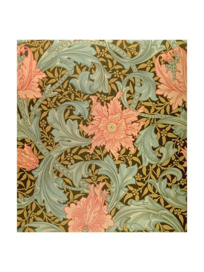 Single Stem Wallpaper Design Giclee Print By William Morris Art