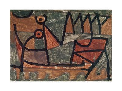Sinister boat ride (Finstere Bootsfahrt). 1940, 345-Paul Klee-Giclee Print