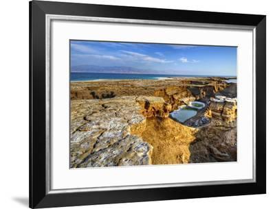 Sinkholes near the Dead Sea in Ein Gedi, Israel.-SeanPavonePhoto-Framed Photographic Print