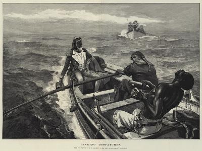 Sinking Despatches-William Heysham Overend-Giclee Print