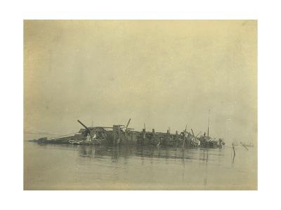 Sinking of the Cruiser 'Varyag' at the Battle of Chemulpo Bay, Russo-Japanese War, 1904--Giclee Print