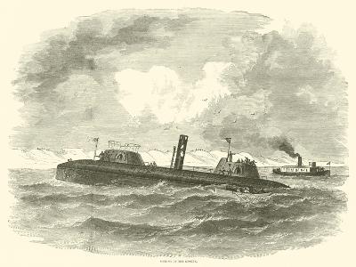 Sinking of the Keokuk, July 1863--Giclee Print