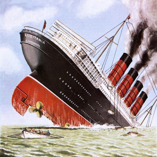 "Sinking of the Lusitania"" Giclee Print - John Keay 