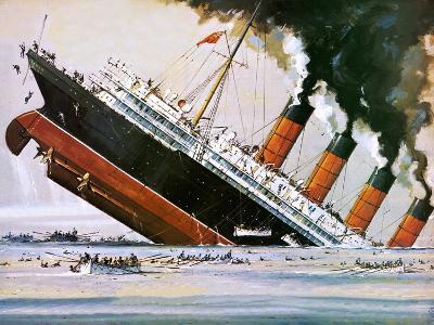 Sinking of the Lusitania-John S^ Smith-Giclee Print