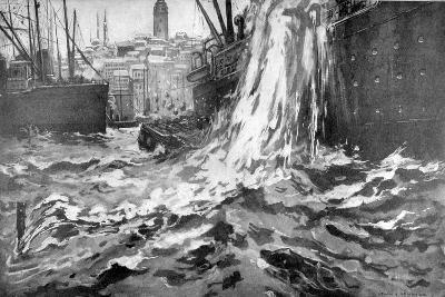 Sinking of the Merchant Ship 'Stamboul, Istanbul Harbour. May 25th 1915--Giclee Print